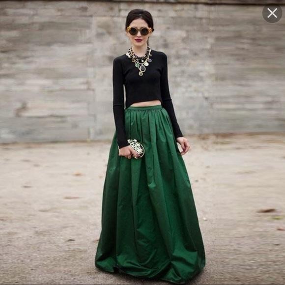 afc81eb6d7c Eloquii Dresses   Skirts - Eloquoii Maxi Taffeta Emerald Green Skirt